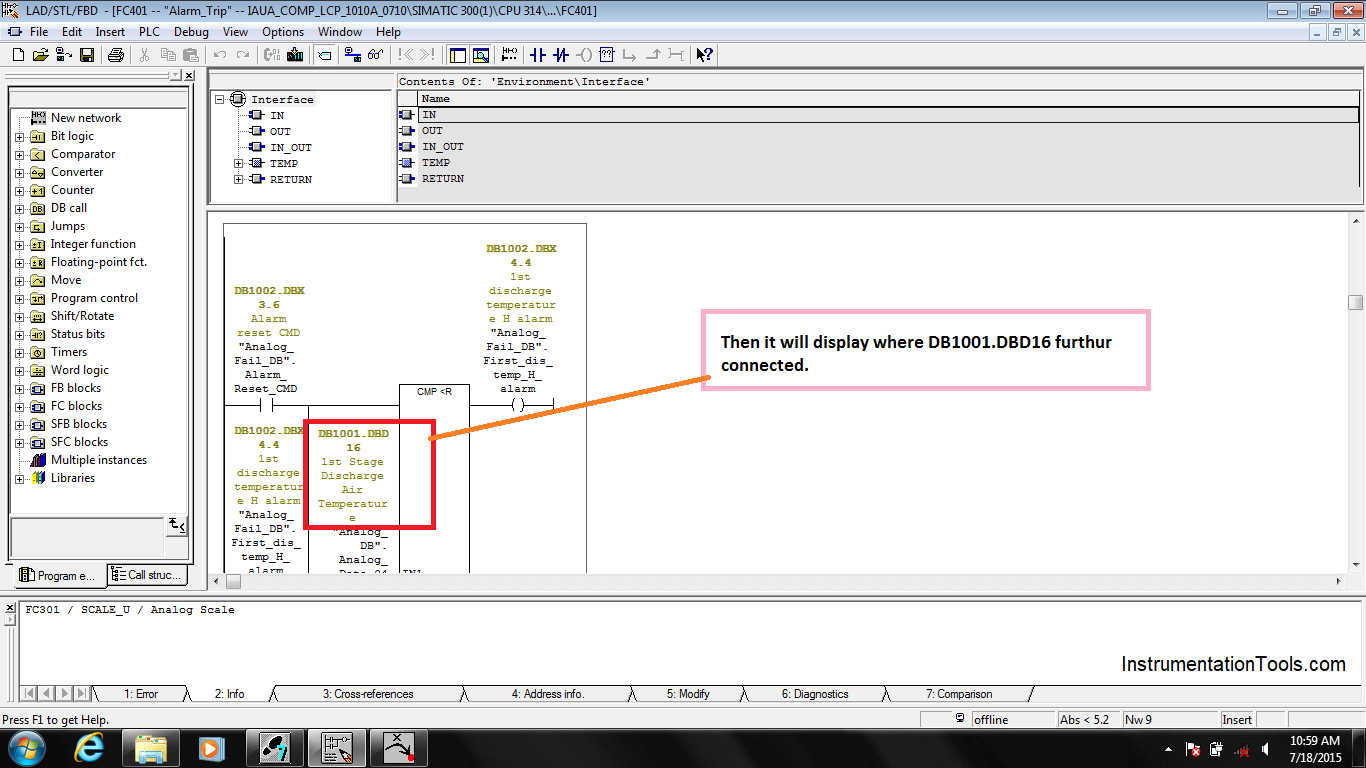 Search Tag in Siemens PLC